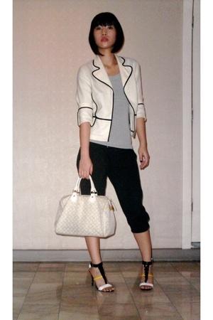 jus blazer - Zara top - random from Hong Kong pants - Louis Vuitton purse - Stel