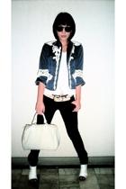Jessica blazer - random from Hong Kong top - Mango jeans - Matthews shoes - Loui