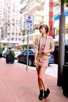 H&M blazer - Topshop top - The Ramp skirt - Zara belt - Soul Phenomenon shoes -