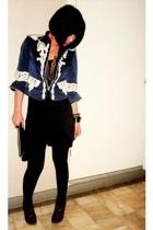 Jessica blazer - Zara dress - Zara tights - Syrup shoes - christian dior purse