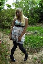 pink Immortal dress - gray falke tights - black Prato shoes - black Legit belt -