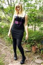 black Insync dress - black Project at RT skirt - black falke tights - black Prat