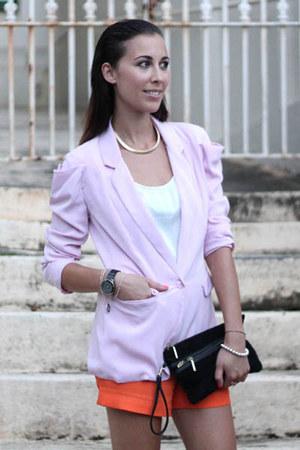 COS shorts - Nina Maya jacket - clutch Zara bag