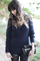 navy degrade knit Topshop jumper