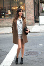 Olive-green-wool-coat-cos-coat-silver-lace-shorts-maje-shorts