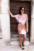 light pink printed dress Nina Maya dress