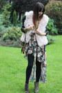 Brown-suede-boots-rag-bone-boots-maroon-flora-maxi-love-dress