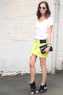 Light-yellow-citrus-skirt-nina-maya-skirt-white-white-silk-tee-zara-t-shirt