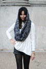 Navy-hooded-scarf-reserved-scarf-white-stretch-dress-cos-dress