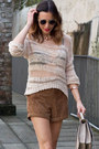 Neutral-topshop-sweater-dark-brown-rag-bone-boots-dark-brown-topshop-shorts
