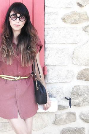 maroon silk dress thrifted vintage dress