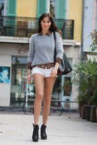 white denim cut offs Vintage Australia shorts - camel Vintage NYC shirt