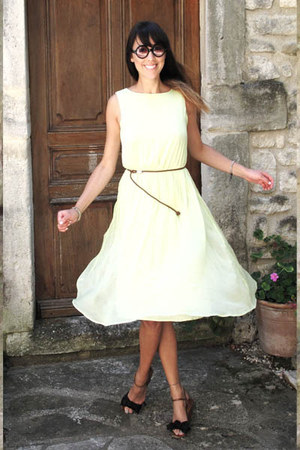 lime green Topshop dress