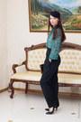 Teal-chiffon-asos-blouse