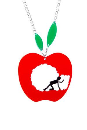 red apple pendant KiviMeri necklace