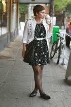 Urban Outfitters dress - vintage shoes - Macys jacket - Forever 21 purse