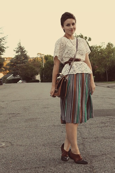 vintage top - thrifted skirt