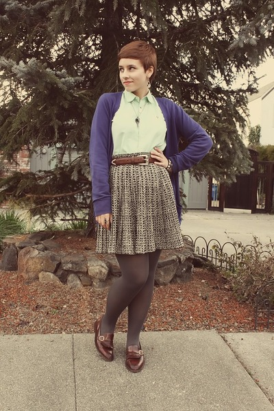 Forever 21 cardigan - Goodwill skirt