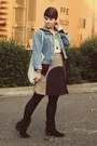 Dsw-boots-gap-jacket-sugarlips-skirt
