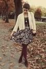 Gap-shirt-goodwill-belt-vintage-skirt-goodwill-heels
