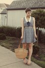 Forever-21-dress-vintage-purse-levity-wedges