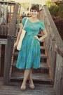 Vintage-dress-dsw-wedges