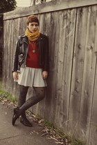 Target scarf - Macys dress - vintage jacket