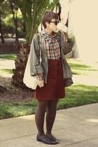 vintage skirt - H&M sunglasses - vintage blouse