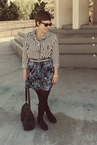 Marshalls boots - Urban Outfitters purse - Goodwill blouse