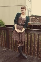 Goodwill dress - vintage cardigan