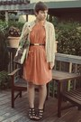 Vintage-dress-vintage-cardigan-target-wedges
