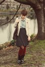 Thrifted-jacket-target-boots-j-crew-shirt-thrifted-skirt