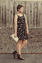 Urban Outfitters dress - Goodwill purse - vera wang wedges