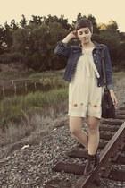 thrifted boots - crossroads dress