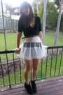 Black-cardigan-light-pink-tutu-petticoat-skirt-black-wedge-sneakers