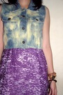 Brown-hat-blue-sals-seasonable-top-purple-forever-21-top-brown-accessories