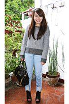 Zara top - Mango jeans - virtualmaemultiplycom shoes - Marc Jacobs purse