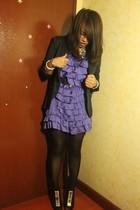 Mango dress - Zara blazer - belt - Mango necklace - LAMB shoes
