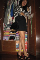 Zara blouse - prp skirt - Michael Kors shoes - aigner purse