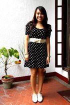 black Zara dress - white Topshop shoes - white from hongkong belt