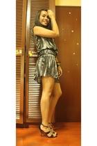 Mango dress - DKNY accessories - LAMB shoes