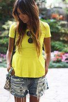 yellow none blouse