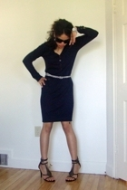 sam edelman shoes - Callaway accessories - belt - calvin klein sunglasses - LBD