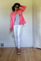 Marc Jacobs sunglasses - vintage blazer - Gap t-shirt - the north face leggings