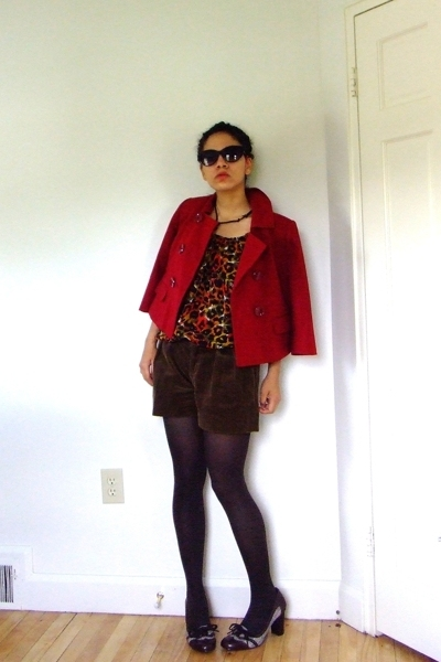 Betsey Johnson sunglasses - ann taylor jacket - Dimri blouse - Ralph Lauren shor