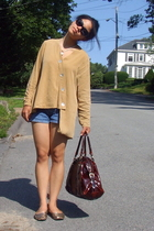 emporio armani sunglasses - vintage necklace - No label blouse - No label shorts