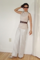 Kenneth Cole sunglasses - JCrew vest - thrifted belt - forever 21 earrings - WD-