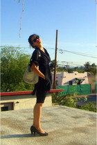 Ray Ban sunglasses - French Connection shirt -  leggings - Sofft shoes - coach p