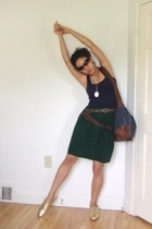 thrifted belt - Re-Made skirt - gifted purse - EasySpirit shoes - Cole Haan sung