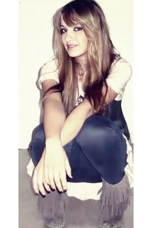Zara boots - Top Shop pants - Zara shirt - Zara blazer